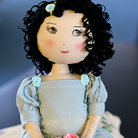 Darling Bud Fabric Doll